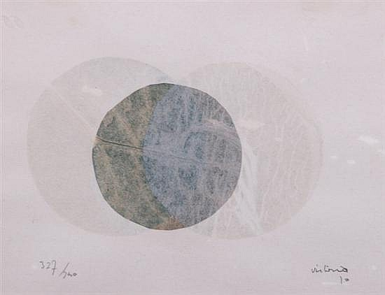 SALVADOR VICTORIA (Spanish, 1929-1994). CIRCLES, signed and dated 10 lower right, numbered 327/750 lower left. Serigraph.