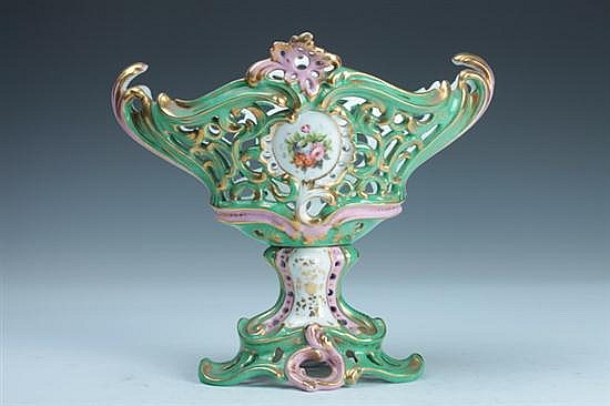 PARIS PORCELAIN CENTERBOWL, mid-to-late 19th century. - 9 1/4 in. high.