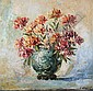LEONID GECHTOFF (Russian, 1883-1941). DAHLIAS IN A BLUE VASE, signed lower right. Oil on canvas., Leonid Gechtoff, Click for value