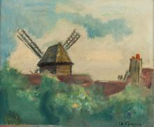 CHARLES CAMOIN (French, 1879-1965). MOULIN DU RADET, signed lower right. Oil on board.