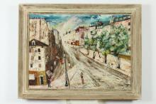 CHARLES LEVIER (French, 1920-2003). BOULEVARD SEBASTOPOL, PARIS, signed lower right and titled. Oil on board.