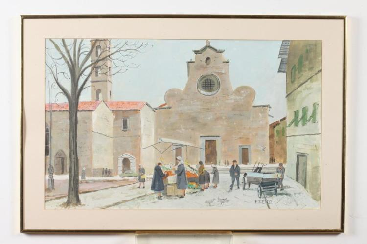 STAN KLIMLEY (American, 1915-2001). FIRENZI, signed and titled lower right. Watercolor.