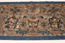 LARGE CHINESE SILK EMBROIDERY. - 123 3/8 in. x 36 1/4 in.