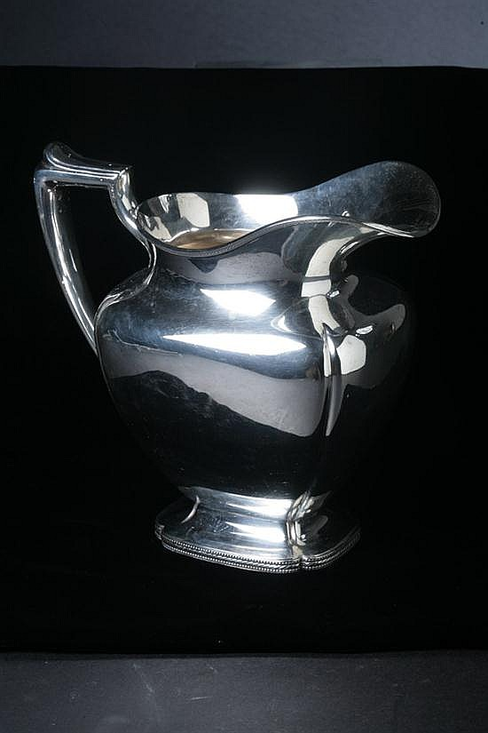 RICHARD DIMES CO. STERLING SILVER PITCHER. - 24 oz., 2 dwt.; 8 1/2 in. high.