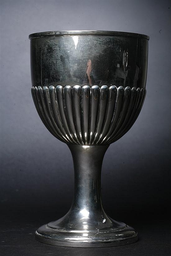 GEORGE III LARGE SILVER GOBLET. William Burwash, London, 1816. - 14 oz., 6 dwt.; 9 1/8 in. high.