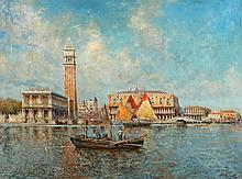 NICHOLAS BRIGANTI. (American, 1861-1944). DOGE'S PALACE, VENICE, signed lower right. Oil on canvas.
