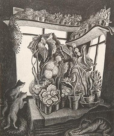 WANDA GAG (American, 1893-1946). WINTER GARDEN, signed, dated 1935, and titled in pencil, lower margin. Edition of 200. Lithograph.
