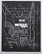 HERBERT WATERS (American, b. 1903). LES SMITH'S BARN, signed, titled and numbered 101/125 in pencil lower margin. Wood engraving., Herbert Ogden Waters, Click for value