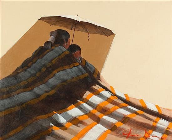 JAMES DARUM (Southwestern American, 20th century). A PIECE OF SHADE, signed and dated '81 lower right. Oil on canvas.