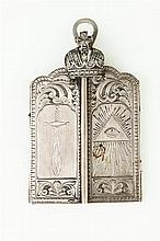 CONTINENTAL SILVER THREE-FOLD TRAVELLING ICON,