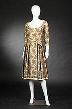 ARNOLD FOX COCKTAIL DRESS, late 1950s-early 1960s; retailed Julius Garfinckel & Co., Washington, DC.