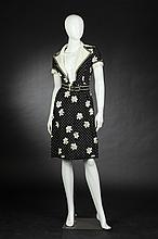 OSCAR DE LA RENTA BOUTIQUE DRESS, 1970s; size 4; retailed Garfinckels, Washington, DC.
