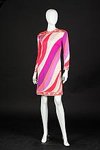 EMILIO PUCCI SILK DRESS, Circa 1960, size 12; retailed Saks Fifth Avenue, Italy; signed in the fabric.