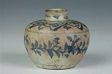CHINESE BLUE AND WHITE PORCELAIN JARLET, Ming Dynasty. - 2 3/4 in. high.