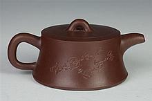 CHINESE YIXING TEA POT, Xu Weiming (b. 1957) maker's mark. - 5 1/4 in. long.