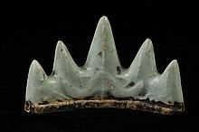 CHINESE CELADON PORCELAIN BRUSH REST. 19th Century. - 3 3/4 in. long.