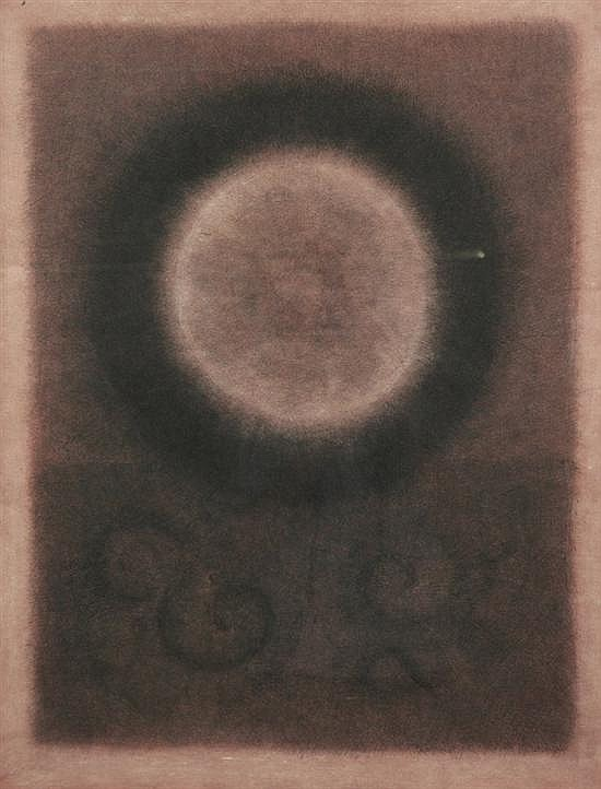 RODOLFO ABULARACH (Guatemalan, b. 1934). APARICION, signed and dated '65 lower right. Ink and wash on paper.