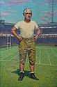 "GARNET W. JEX (American, 1895-1979). PORTRAIT OF ARTHUR ""DUTCH"" BERGMAN, signed lower right. Oil on canvas."