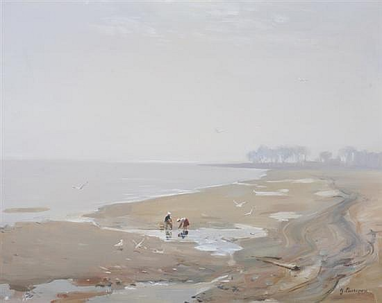 GEORGE CHEREPOV (American, 1909-1987). HAZY MORNING, signed lower right. Oil on canvas.