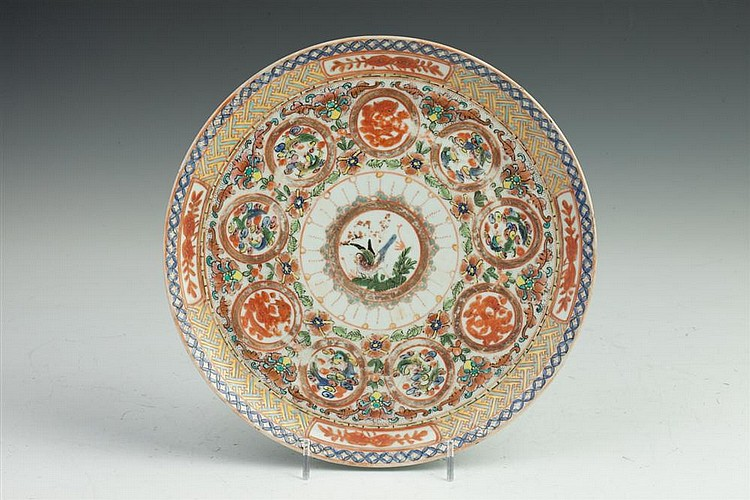 CHINESE EXPORT PORCELAIN DISH, 18th Century. - 9 5/8 in. diam.