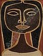 OSWALDO GUAYASAMIN (Ecuador, 1919-1999). CABEZA DE NINA, signed lower left. Oil on canvas.