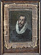 STYLE OF EL GRECO. (18th/19th century). PENITENT MAN, oil on canvas laid on board.