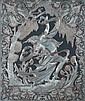 FOUR PERSIAN MIXED METAL PANELS. - Largest: 23 3/8 in. x 19 1/2 in.