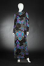 NETTIE MILGRIM MOD JERSEY MAXI DRESS, 1960s.