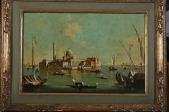 A. GROSSI (Italian, 20th century). CANAL, VENICE, signed lower left. Oil on canvas.