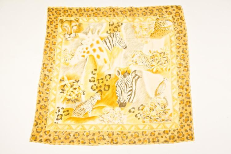 ESCADA SILK SCARF. - 35 in. x 35 in.