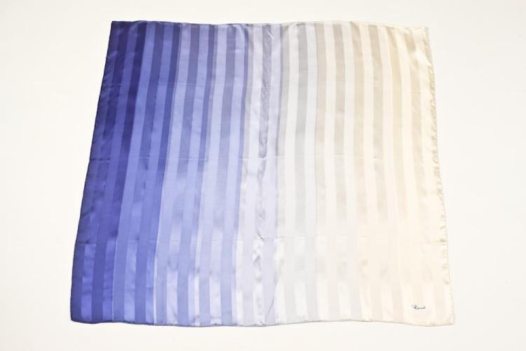 RENARD BLUE OMBRÉ SILK SCARF. - 34 in. x 35 in.
