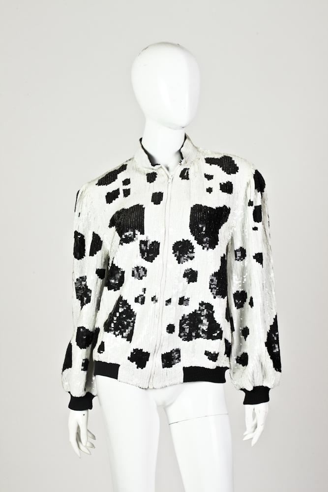 JULES OF MARGATE DALMATION SEQUINED JACKET, Size small - 6/8.