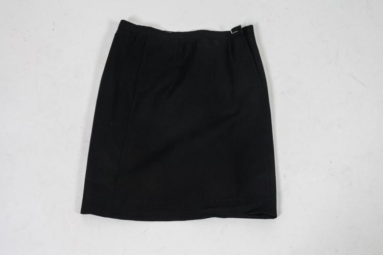 THREE COURRÈGES SKIRTS, BLACK, GREY, ORANGE SKIRTS, size small.