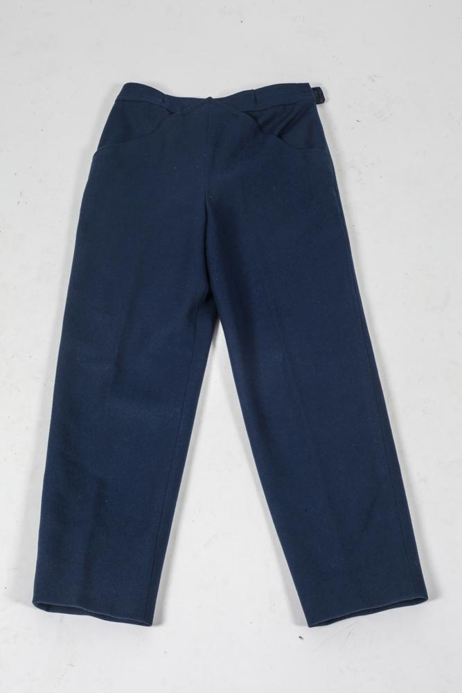 COURRÈGES NAVY WOOL TROUSERS. size small.
