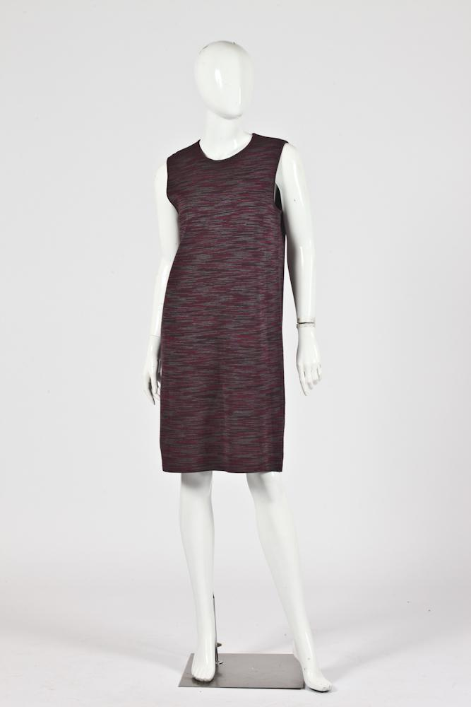 MISSONI SLEEVLESS MAGENTA AND PURPLE KNIT DRESS, Size 8.