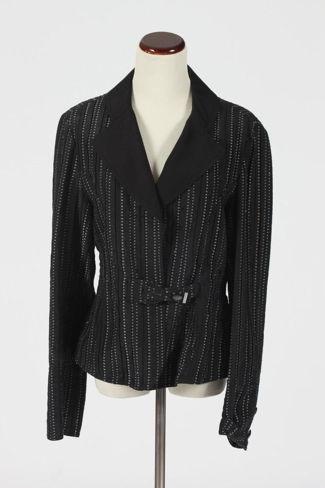 ARMANI BLACK AND WHITE JACKET. Size medium.