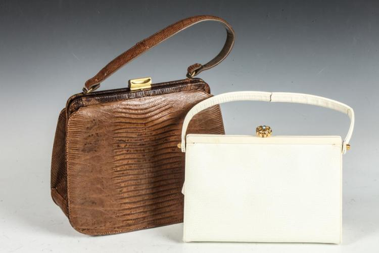 TWO VINTAGE HANDBAGS BY PALAZZZIO AND COBLENTZ.