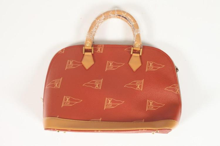 IMITATION LOUIS VUITTON RED LV CUP CANVAS BAG. (NEW),