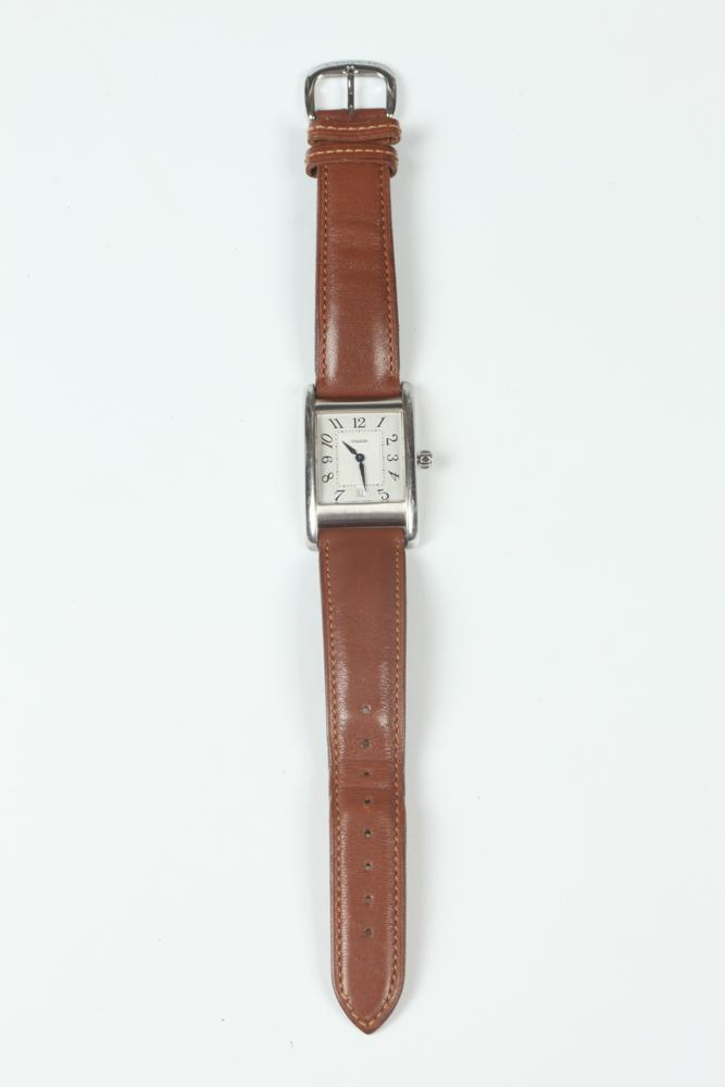 COACH BROWN LEATHER WRISTWATCH WITH BOX.
