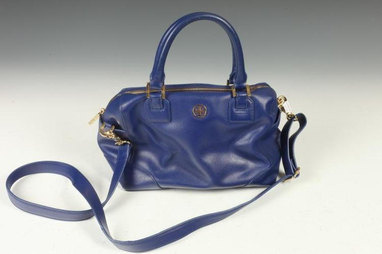 TORI BURCH BLUE LEATHER BAG.