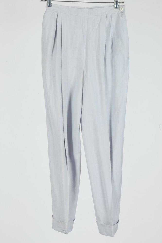 CHRISTIAN DIOR PALE BLUE LINEN PANTS, size 10.