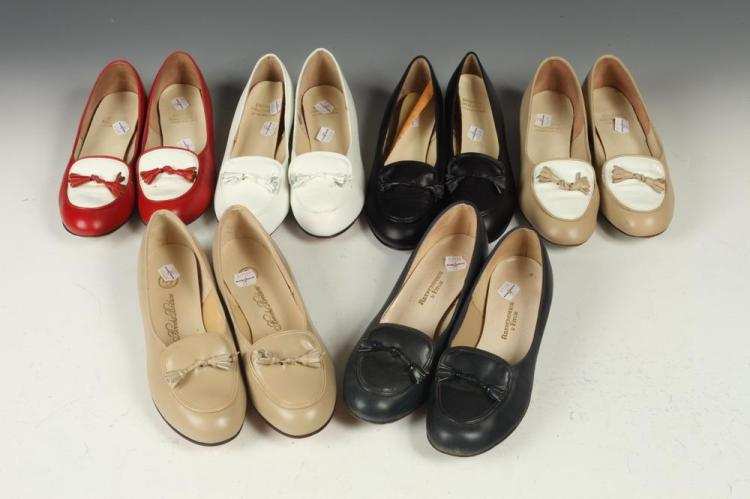 BROOKS BROTHERS, SELECTION OF LEATHER SHOES, size 6 1/2.