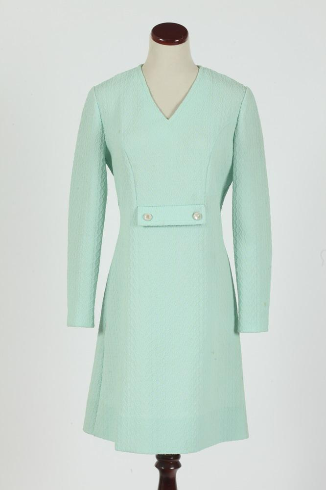 VINTAGE 1960'S SEA FOAM GREEN DRESS, size small.