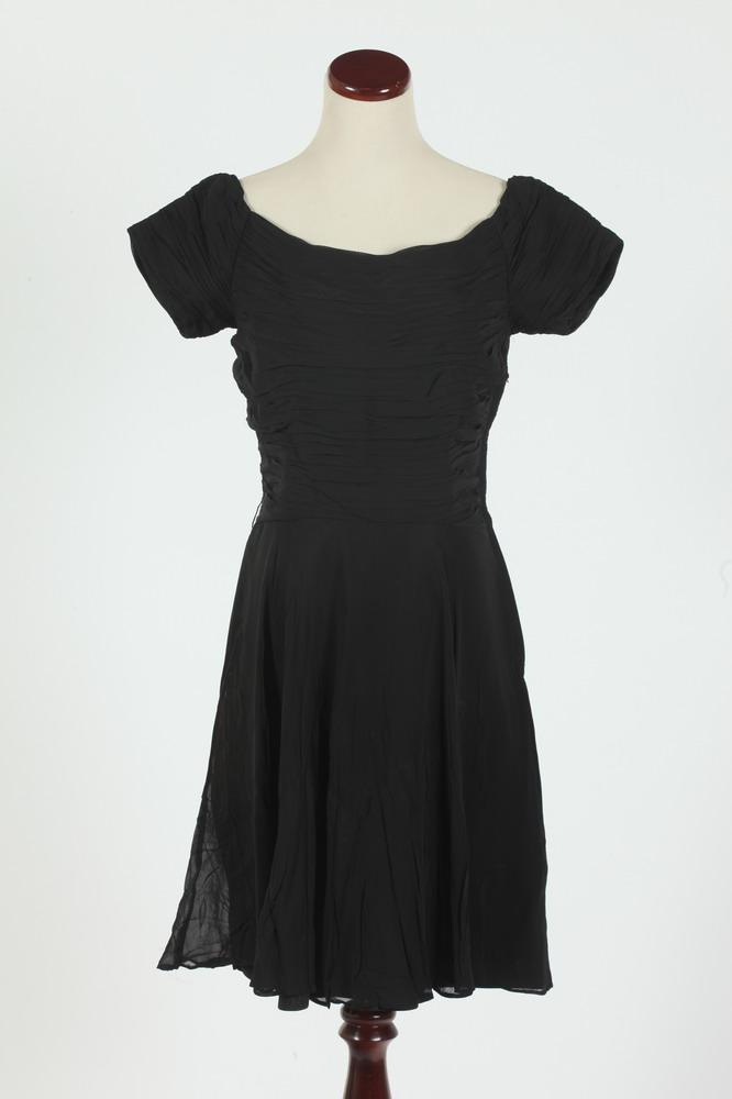 VINTAGE CUSTOM-MADE BLACK DRESSES, size xs.