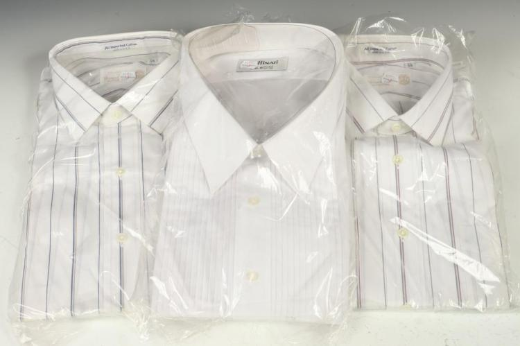 SELECTION OF MEN'S SHIRTS: NINE DRESS SHIRTS. size 17.
