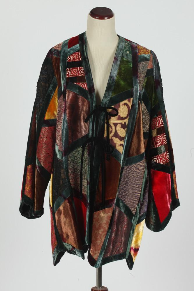 ZUZKA NY PATCHWORK JACKET WITH VELVET AND EMBROIDERED MATERIAL, size medium.