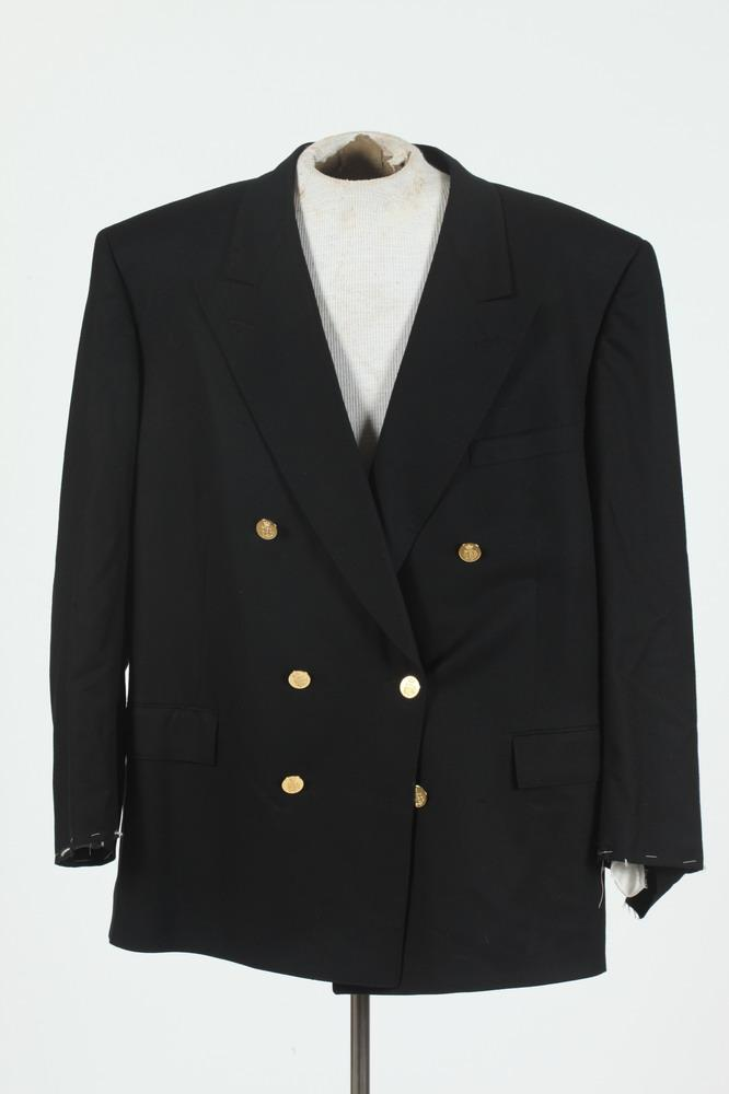 MEN'S WOOL JACKET WITH GOLD-TONE BUTTONS,