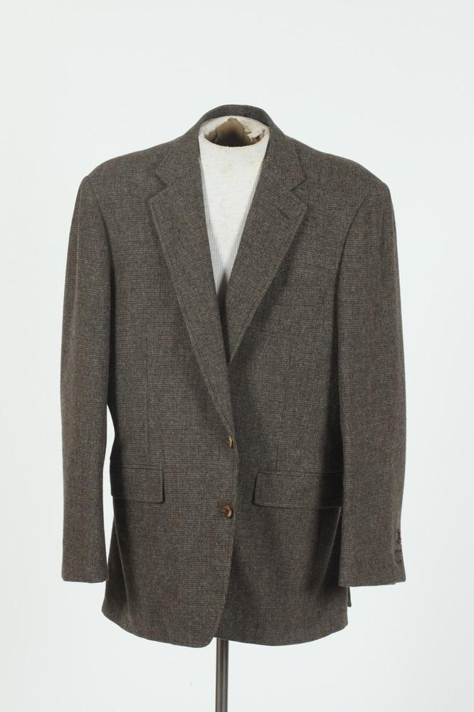 MEN'S GREY WOOL WEED JACKET, size 44.