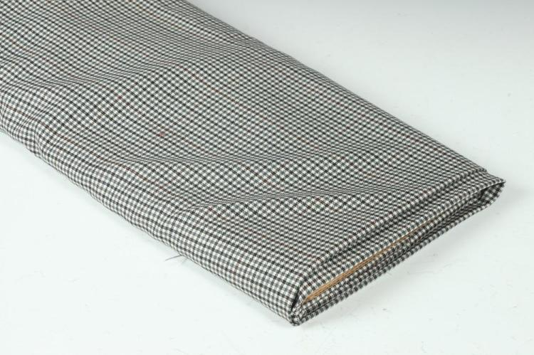 WHITE, GREY BLUE, HUNTER GREEN, CHOCOLATE BROWN PLAID FABRIC.