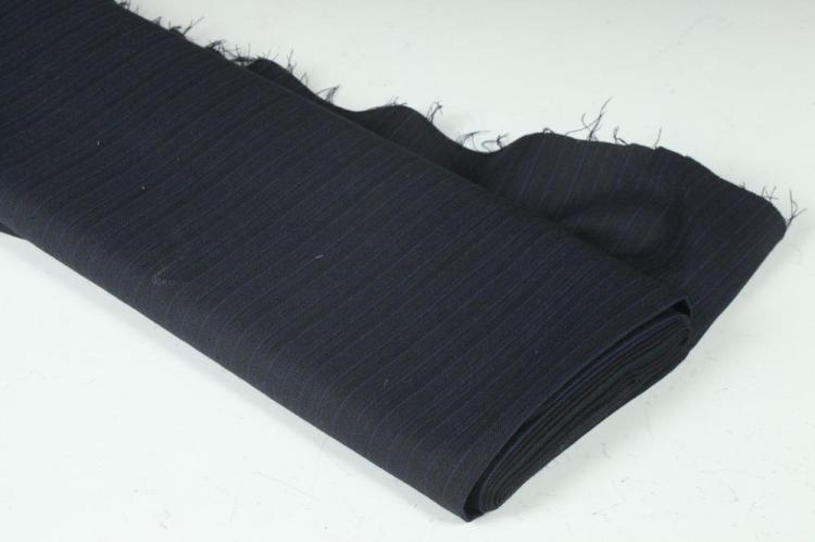 NAVY BLUE AND ROYAL BLUE PINSTRIPED FABRIC.